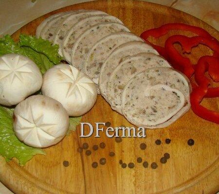 Рулет куриный с грибами - Галантин (паровой)