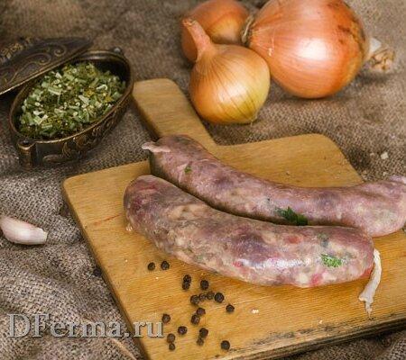 Колбаски-купаты из куриного филе и свинины с сыром