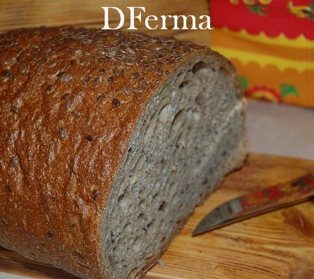 Хлеб Монастырский бездрожжевой c семенами льна