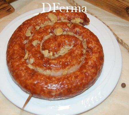 Домашняя жаренная колбаса