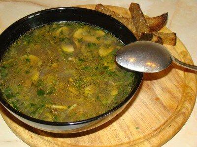 Грибной картофельный суп
