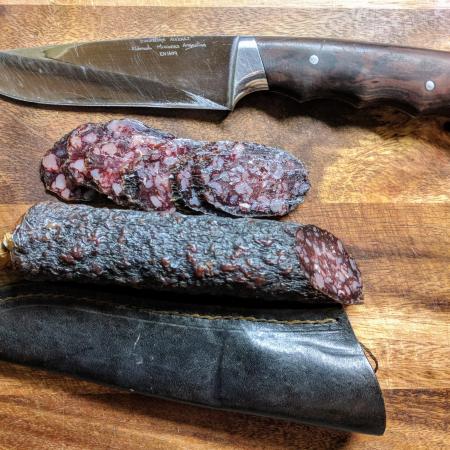 Колбаса сыровяленая из лося